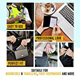 MF accessible trends Leather Pocket Notepad Steel