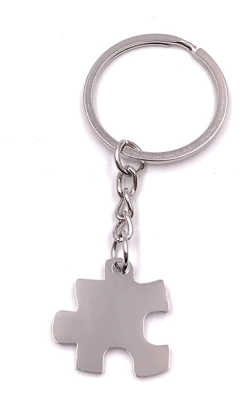 Onlineworld2013 Llavero Puzzle Pieza Puzzle Metal Colgante Charm