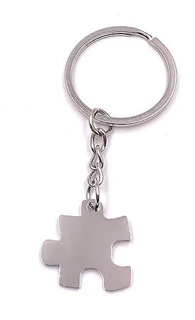 Onlineworld2013 Llavero Puzzle Pieza Puzzle Metal Colgante ...