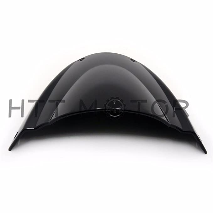 SMT-Windshield WindScreen Compatible With Ducati Monster 696 2008 2009 2010 2011 2012-2014 Black [B074V39YYR]