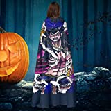 Gear 4 Luffy One Piece Unisex Christmas Halloween Witch Knight Hooded Robe Vampires Cape Cloak Cosplay Costume Black