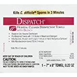 Dispatch Hospital Cleaner Disinfectant Towels with Bleach, 50 Count Box of Individually Packaged Towels, 6 Boxes/Case