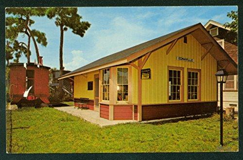 (HAAS MUSEUM Seaboard Caboose Depot St. Petersburg FL Train Railroad Postcard)