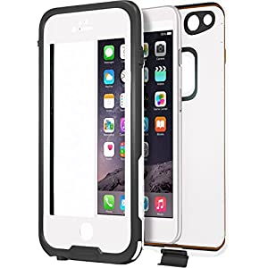 "CellEver iPhone 6 / 6s Case Waterproof Shockproof IP68 Certified SandProof SnowProof Full Body Protective Cover Fits Apple iPhone 6 and iPhone 6s (4.7"") - (White)"