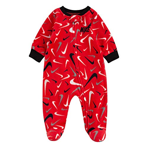 Nike Baby Boy Microfleece Footed Coverall with Zipper Closure