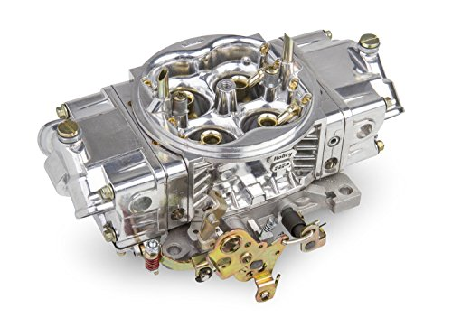 Holley 0-82651SA Street HP Carburetor 4 bbl 650 cfm Model 4150HP Double Pumper Mechanical Secondary All Aluminum Construction No Choke Gasoline Shiny Finish Street HP Carburetor