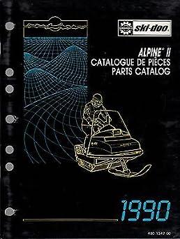 1990 ski doo snowmobile alpine ii parts manual p n 480 1247 00 252 rh amazon com vintage ski doo parts manual ski doo tundra parts manual