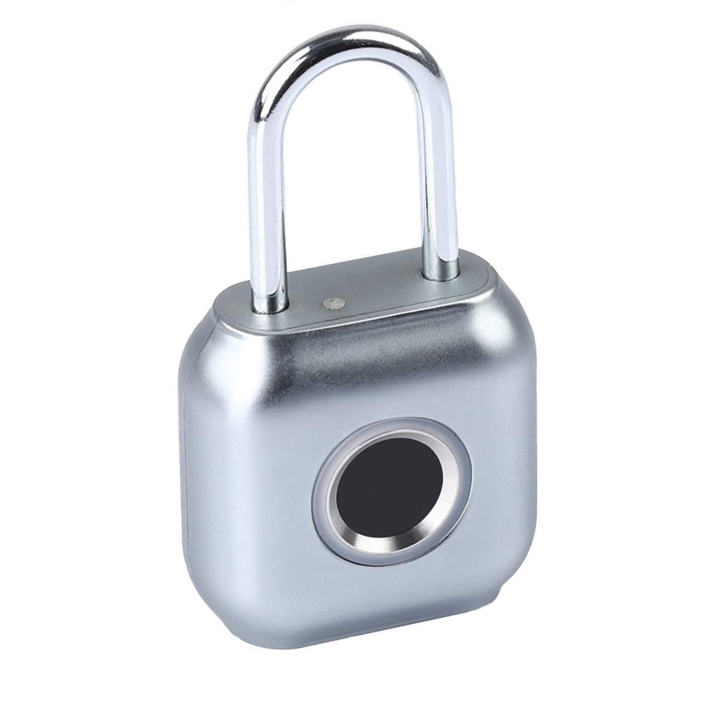 MUYIER Smart Fingerprint Padlock, Mini Fingerprint Padlock IP66 Waterproof Security Keyless Lock USB Chargable Smart Anti-Thef Lock for House Door Backpack Suitcase,B by MUYIER