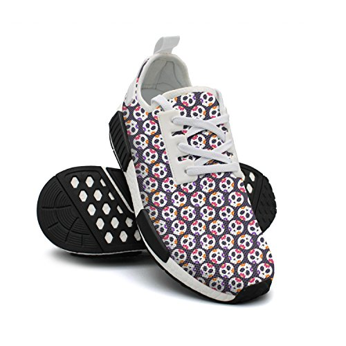 Dead Colourfor Shoes Nmd Ladies Gym Running Cute Skulls Day Shoes Of TqwrHtq