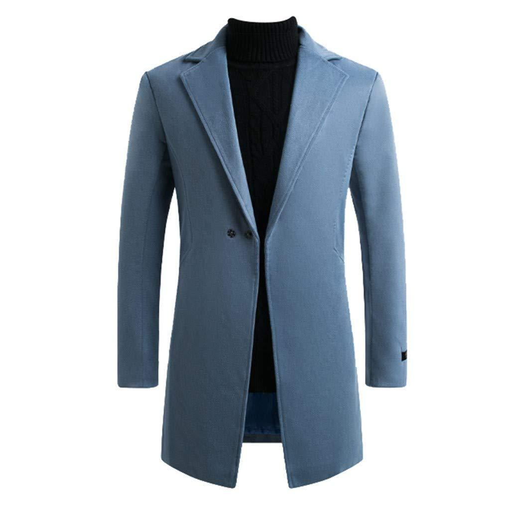 Charberry 2019 New Men's Winter Style Fashionable Warm Snowflake Windbreaker Coat Pure Coat Blue by Charberry Men's Wear