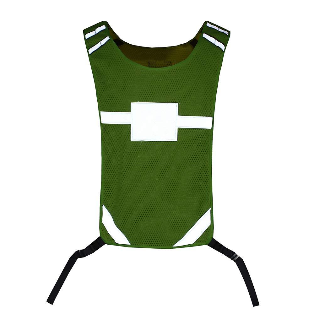 R/églable et L/éger Protection Compatible avec la Course /à Pied Marche pour Ho V/élo Jogging AYKRM Gilet de S/écurit/é R/éfl/échissant D/ébardeur Haute Visibilit/é Polyester Dylon Confortable