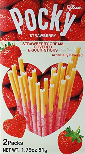 Pocky Seedy Strawberry Chocolate with Biscuit Stick