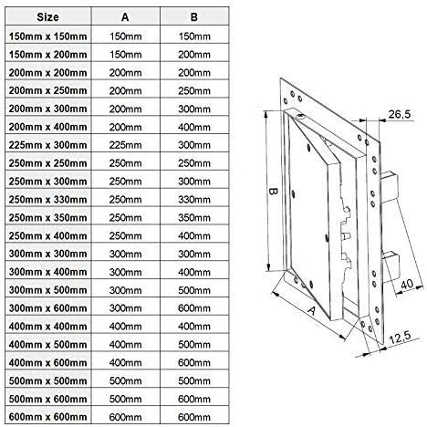 500mm x 600mm Plasterboard Access Panels with Aluminium Frame//Revision Door//Inspection Flap//Service Hatch//Vision Panel