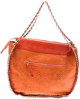 Rue Princesse - Bolso de Tela de Cuero para Mujer Naranja Naranja 39x32x12 cm (BxHxT)