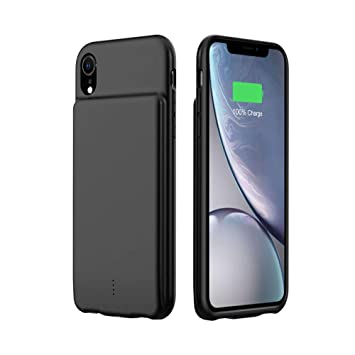 HiKiNS Funda Batería para iPhone XS MAX 5000mAh Externa Ultra Batería Recargable Power Bank Case Funda Cargador Portatil Batería para iPhone XS MAX - ...