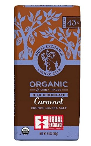 Equal Exchange Organic Milk chocolate Caramel crunch with sea salt 2.8 oz 1 Perishability: perishable Package Type: individual item multi-serving Container Material: paper or cardboard