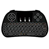 REDGO P9 Mini Wireless Keyboard with Touchpad Combo and Multimedia Keys for Google Android TV Box HTPC PS3 PS4 Xbox 360 Smart Phone Tablet Mac Linux Windows OS PC, Black