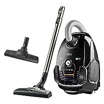 AEG VX7 Power - Aspiradora con bolsa con cepillo parketto, color negro Ébano