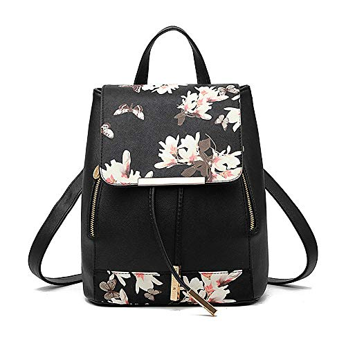 TIBES Small Daypack Casual Waterproof Backpack for Women/Girls Black 2 (Best Waterproof Backpack India)