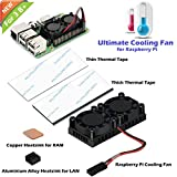 iUniker Raspberry Pi 3 B+ Dual Fan with Raspberry Pi Heatsink, Raspberry Pi Fan for Raspberry Pi 3B+/Pi 3 B/Pi 2 B