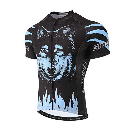 TeyxoCo 2018 Men Blue Dog Cycling Jersey Short Sleeve Top XXXL - Cycling Coors Jersey