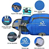 WATERFLY Fanny Pack with Water Bottle Holder Hiking Waist Packs for Walking Running Lumbar Pack fit for iPhone iPod Samsung Phones