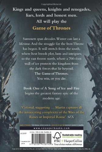 Game of thrones book report