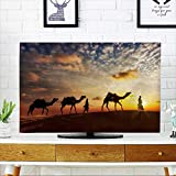 PRUNUS Protect Your TV Travel Background Two cameleers (Camel Drivers) with Camels Silhouettes Protect Your TV W19 x H30 INCH/TV 32''
