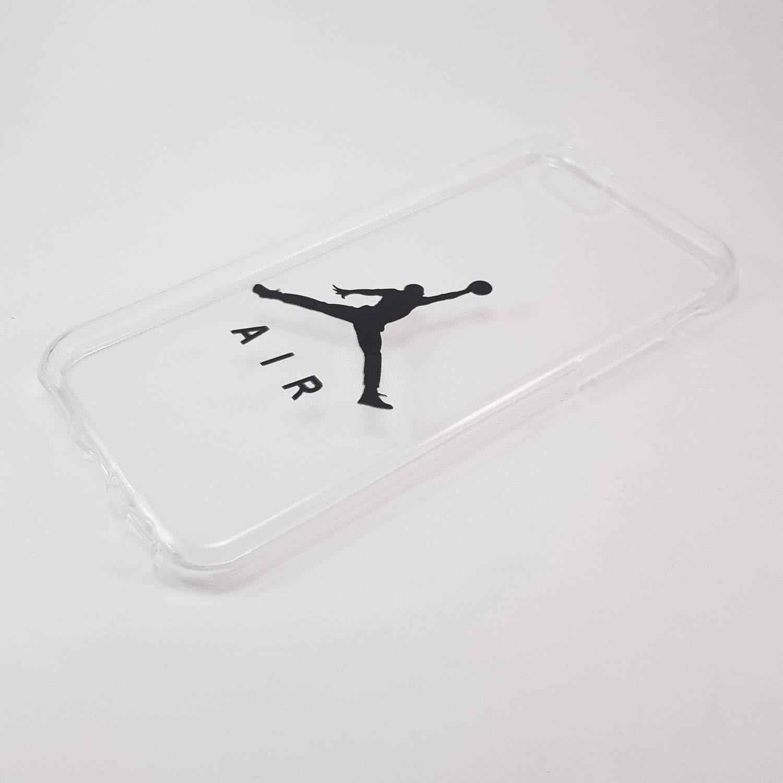 Xaomi Redmi 5A custom-cases Coque Housse pour Mobile Logo Jordan Air en Noir Sobre Arri/ère Transparent