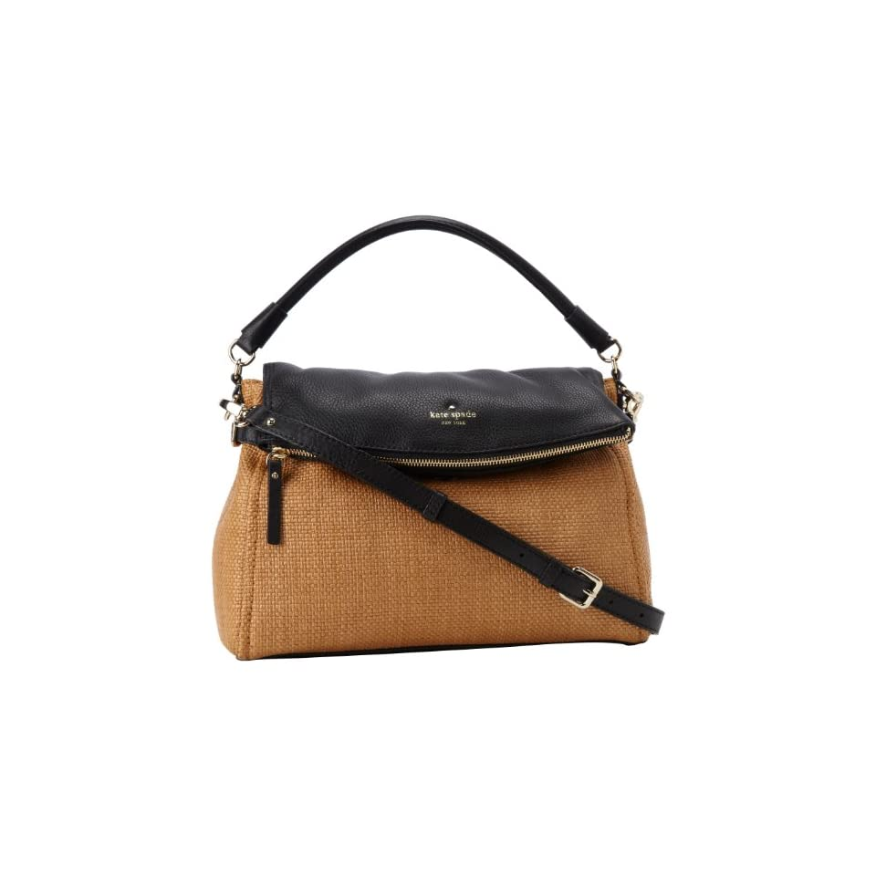 Kate Spade New York Cobble Hill Straw Little Minka PXRU4144 Satchel,Natural/Black,One Size