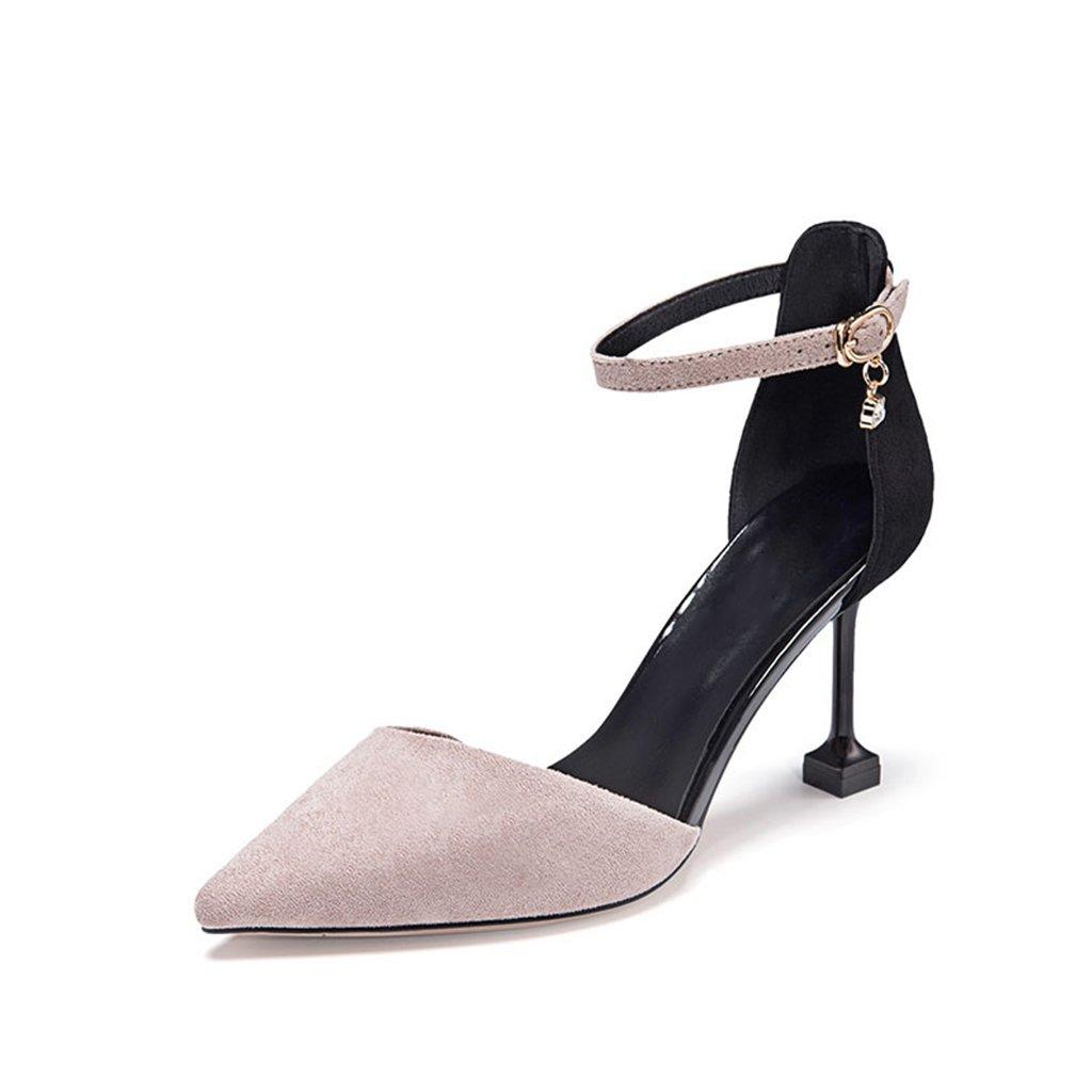 JIANXIN Die Sportiven Sandalen Für Damen Im Frühling Und Sommer Sind Ultra High Heels Und Ein Wort Für Schuhe Für Frauen. (Farbe   Grau, größe   34)