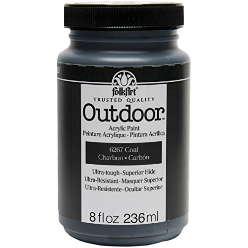 FolkArt Outdoor Paint in Assorted Colors 8 oz, 6267 Coal