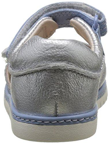 Clarks Tika Ice Fst, Botines de Senderismo para Bebés Plateado (Silver Leather)