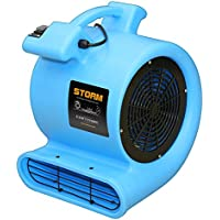 Contair STO2500BL High 2800 CFM Air Mover Carpet Dryer Blower Floor Fan, Blue
