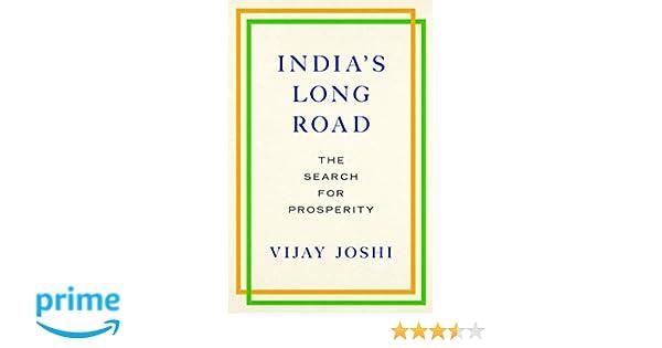 India's Long Road: The Search for Prosperity: Vijay Joshi