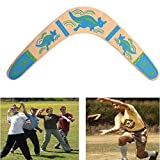 Wooden Boomerang V Shape 100 ° Open Returning Boomerang Outdoor Sports Toy