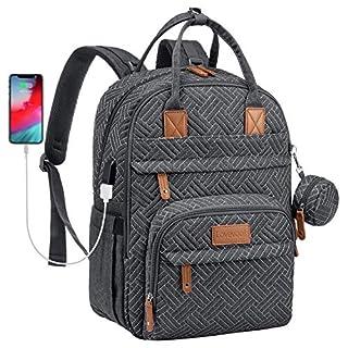 Diaper Bag Large Diaper Backpack Baby Diaper Bags,Plaited Dark Grey