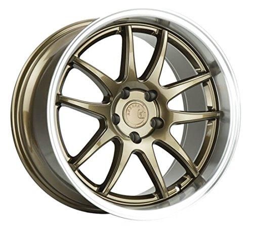 AodHan DS02 Wheel - Bronze w/Machined Lip: 18x10.5 Wheel Size; 5x114.3 Lug Pattern; 73.1mm Hug Bore; 22mm Off Set.