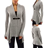 Women Cardigan,Haoricu Womens Open Front Long Sleeve Casual Knitted Sweater Cardigan Tops Shirt (XL, Gary)