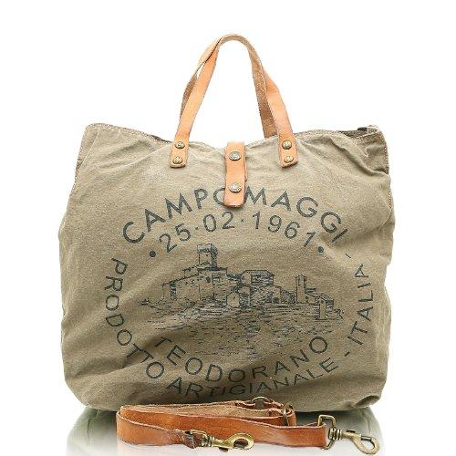 Fourre Sac Campomaggi main cm Militare tout 36 Naturale à Faq6KMw6t