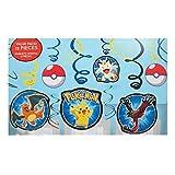 Pokemon Pikachu 12 Swirl Decorations Birthday Party Supplies