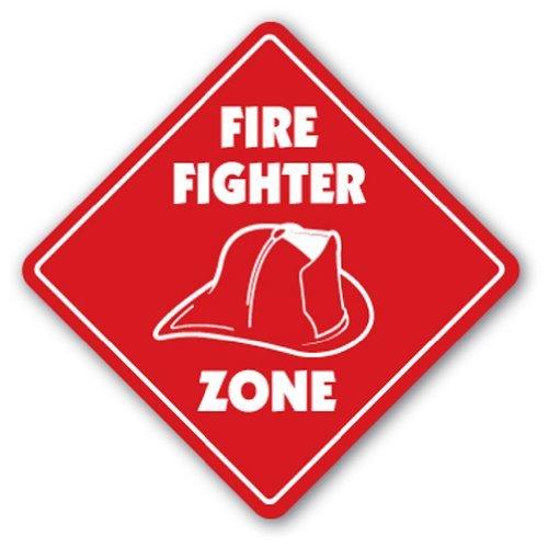 Estación de zona de bombero bombero Sign Fire Fighter Gift House Graduate Incendios