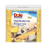 Dole Individual Quick Frozen Cubed Pineapple, 5 Pound -- 2 per case.