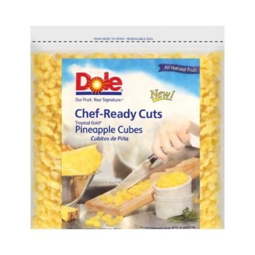 Dole Individual Quick Frozen Cubed Pineapple, 5 Pound -- 2 per case. by Dole (Image #1)