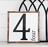 Number Sign | Numerical Personalized Home Decor | Rustic Farmhouse Decor | Country Living | Housewarming Gift | Family | Party Of 4