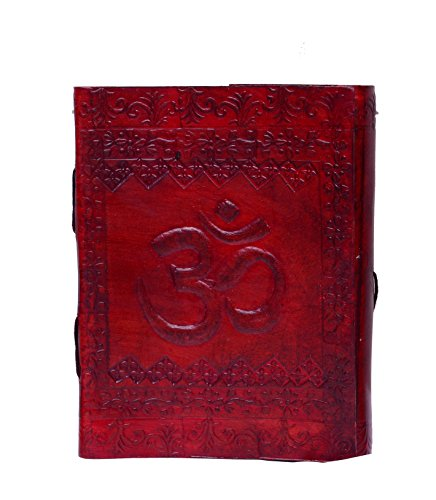 Purpledip Leather Diary / Journal / Decorative Notebook 'Om - The Spiritual Incantation' With Naturally Treated Paper For Corporate Gift or Personal Memoir (10445)