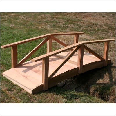 Creekvine Designs Pearl River 6-ft. Cedar Garden Bridge by Creekvine Designs