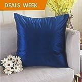 Home Brilliant Luxuriou Velvet Square Throw Pillow Case for Bench, 18 x 18 inch, Royal Blue