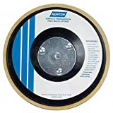 5'' Hook-and-Loop Disc Backup Pad, 5/16''-24 Threaded Arbor Hole Back Mount, 10,000 Max. RPM, 5 PK