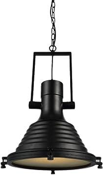 Frideko Vintage Pendant Light Retro Industrial Metal Black Light Fitting for Loft Kitchen Living Room